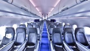 Airbus'ın yeni tek koridorlu Airspace kabini, ilk kez Lufthansa ile hizmete girdi