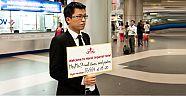 Yeni İstanbul Havalimanında karşılama levhası yasak